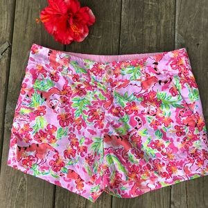 Lilly Pulitzer Pink Callahan Shorts Call Me Kitty